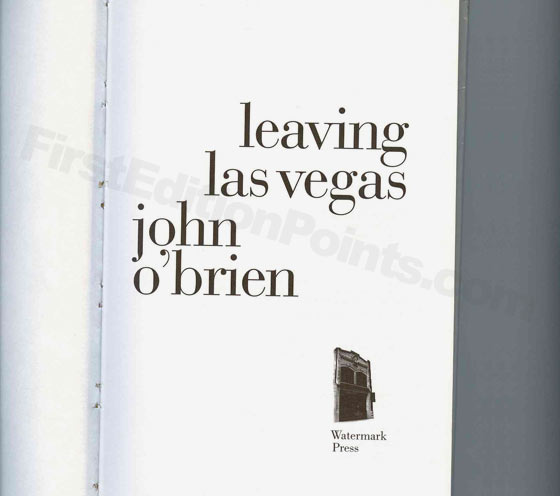 Picture of the title page for Leaving Las Vegas.