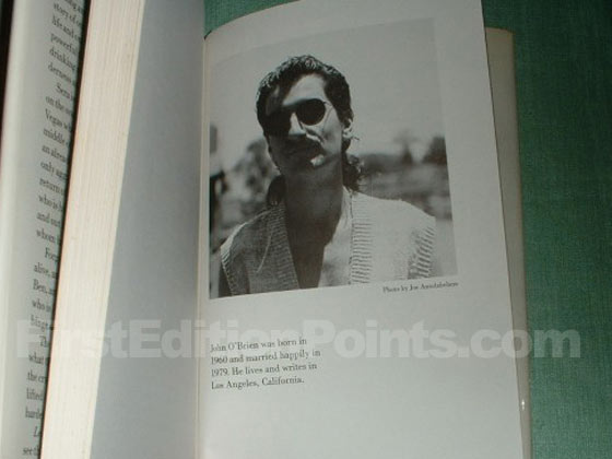 "This is the bio page from a first printing of Leaving Las Vegas.  It says ""John"