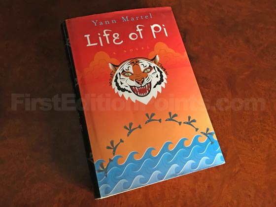 Picture of the 2001 first edition dust jacket for Life of Pi.
