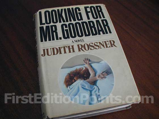 Picture of the 1975 first edition dust jacket for Looking for Mr. Goodbar.