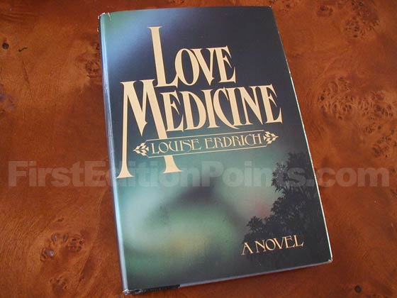 Picture of the 1984 first edition dust jacket for Love Medicine.