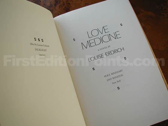 Picture of the first edition title page for Love Medicine.