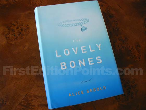 Picture of the 2002 first edition dust jacket for The Lovely Bones.