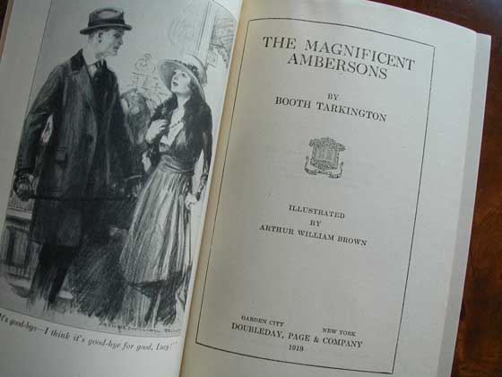Picture of the title page for The Magnificent Ambersons.