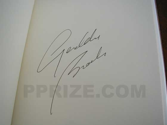 Autograph: Signature of Geraldine Brooks.