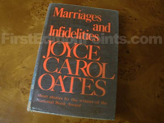 Picture of the 1972 first edition dust jacket for Marriages and Infidelities.