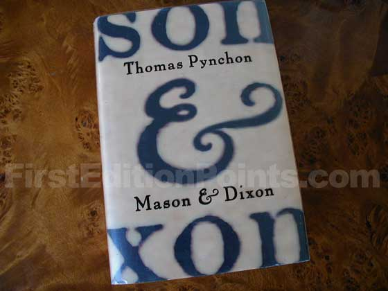 Picture of the 1997 first edition dust jacket for Mason & Dixon.
