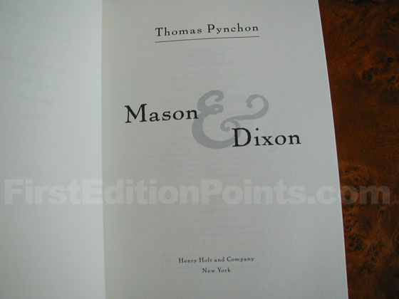 Identification picture of Mason & Dixon.