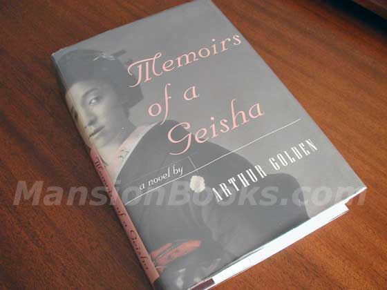 Picture of the 1997 first edition dust jacket for Memoirs of a Geisha.