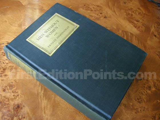 Picture of the first edition Charles Scribner's Sons boards for Men Without Wome