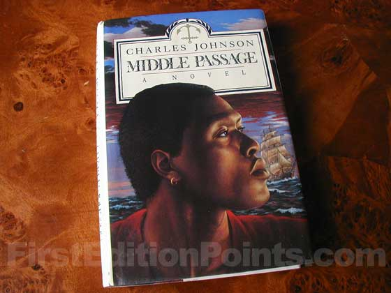 Picture of the 1990 first edition dust jacket for Middle Passage.