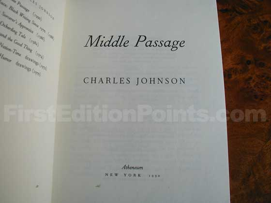 Identification picture of Middle Passage.