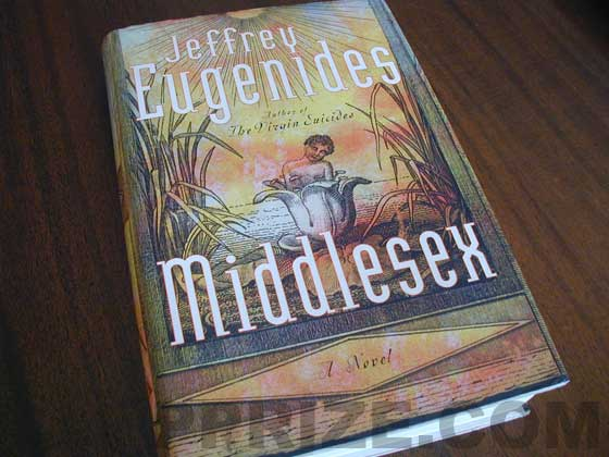Picture of the 2002 first edition dust jacket for Middlesex.