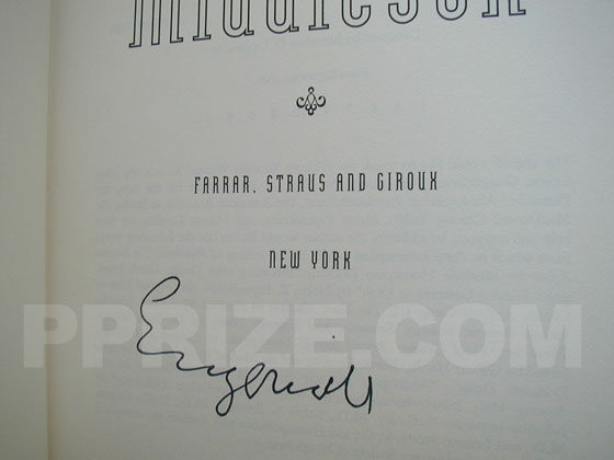 Autograph: Signature of Jeffrey Eugenides.
