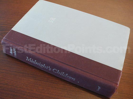 Picture of the first edition Knopf boards for Midnight's Children.