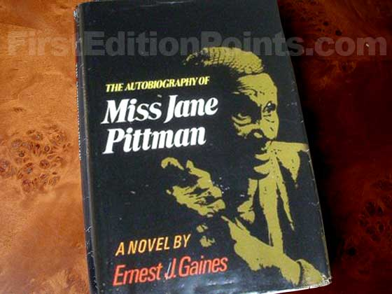 Picture of the 1971 first edition dust jacket for The Autobiography of Miss Jane Pittman.