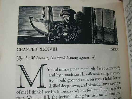 Identification picture of Moby Dick (Illustrated by Rockwell Kent).