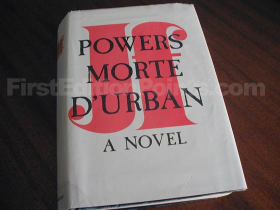 Picture of the 1962 first edition dust jacket for Morte D'Urban.