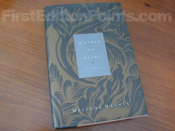 Picture of the 1999 first edition dust jacket for Mother of Pearl.