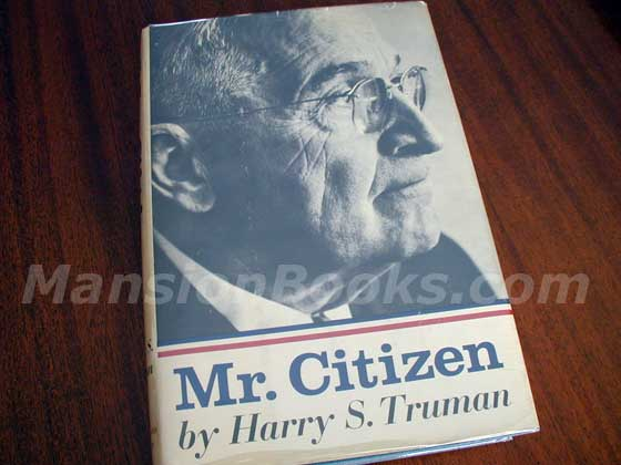 This is the 1960 first trade edition dust jacket for Mr. Citizen.