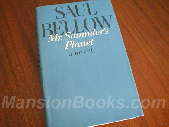 Picture of the 1970 first edition dust jacket for Mr. Sammler's Planet.