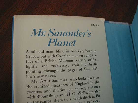 Identification picture of Mr. Sammler's Planet.