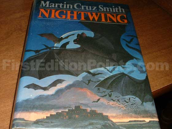 Picture of the 1977 first edition dust jacket for Nightwing.