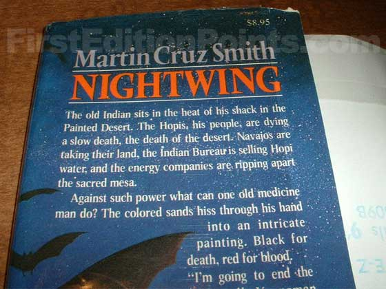 Picture of dust jacket where original $8.95 price is found for Nightwing.