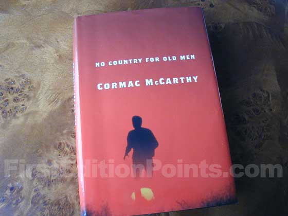 Picture of the 2005 first edition dust jacket for No Country for Old Men.