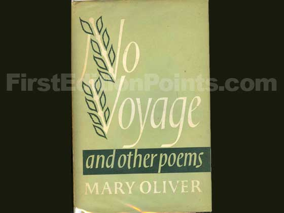 Picture of the 1963 first edition dust jacket for No Voyage.