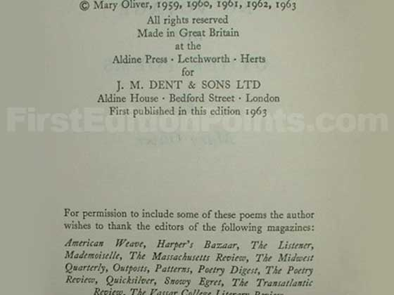 Picture of the first edition copyright page for No Voyage.