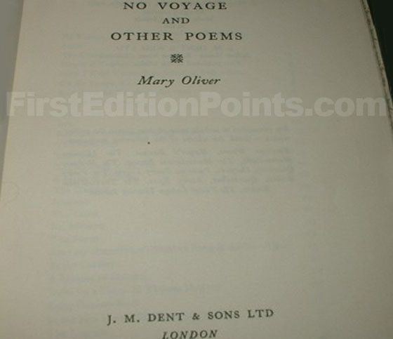 Picture of the first edition title page for No Voyage.
