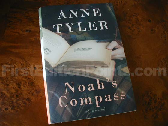 Picture of the 2009 first edition dust jacket for Noah's Compass.