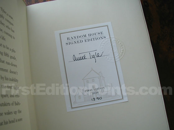"This is the book plate from the ""Signed Edition"".  It is numbered, and states ""FIRST"