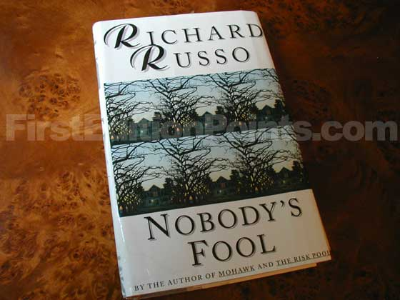 Picture of the 1993 first edition dust jacket for Nobody's Fool.