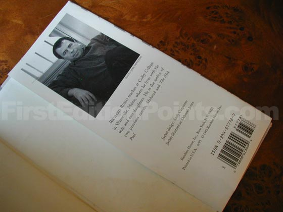 Picture of the back dust jacket flap for the first edition of Nobody's Fool.