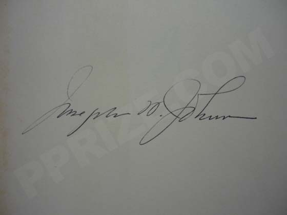 "Josephine Johnson's signature from a 1962 printing of ""Now In November"".  Photo"