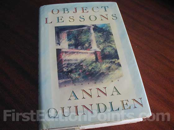 Picture of the 1991 first edition dust jacket for Object Lessons.
