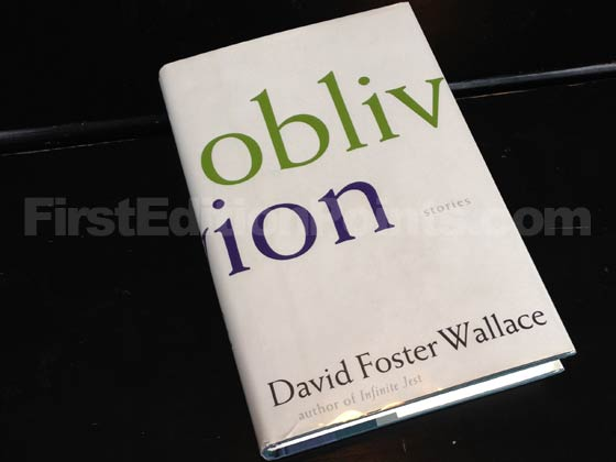 Picture of the 2004 first edition dust jacket for Oblivion. Photo courtesy of Bryan