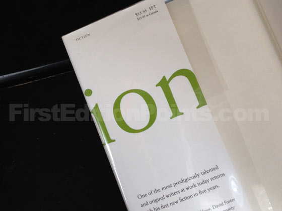 Picture of dust jacket where original $25.95 price is found for Oblivion. Photo courtesy