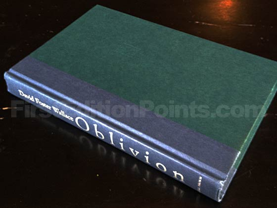 Picture of the first edition Little, Brown and Company boards for Oblivion. Photo