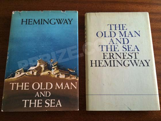 The dust jacket on the left is from a first edition, and the dust jacket on the right is