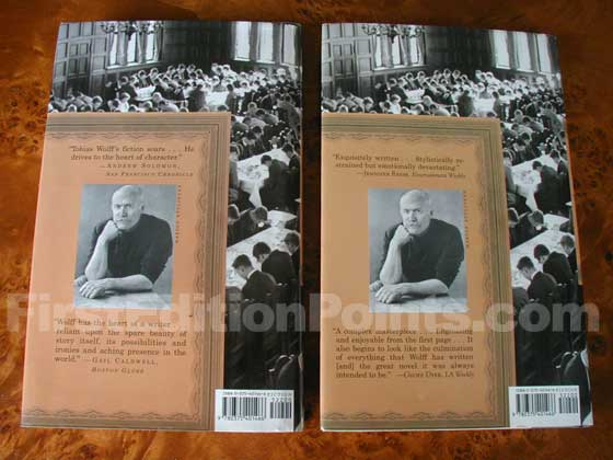 The first issue dust jacket is on the left.  It has the original reviews by San Francisco