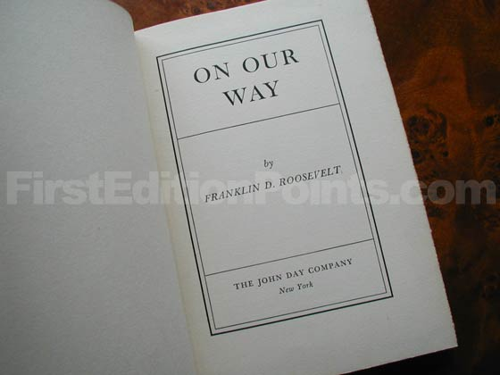 Picture of the first edition title page for On Our Way.
