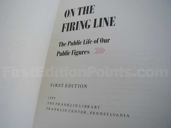 This is the title page from the true first Franklin Library edition.