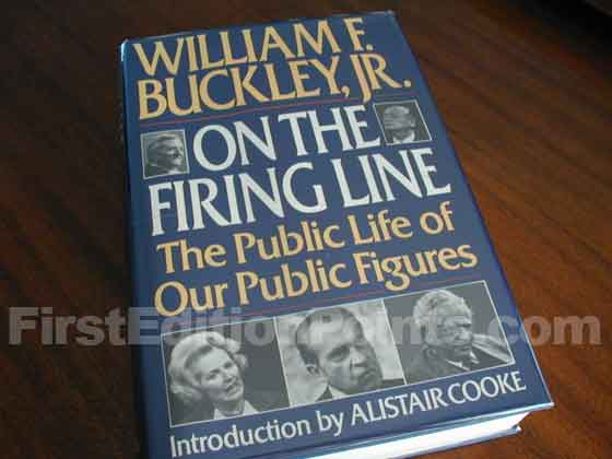This is the first trade edition dust jacket of On the Firing Line.