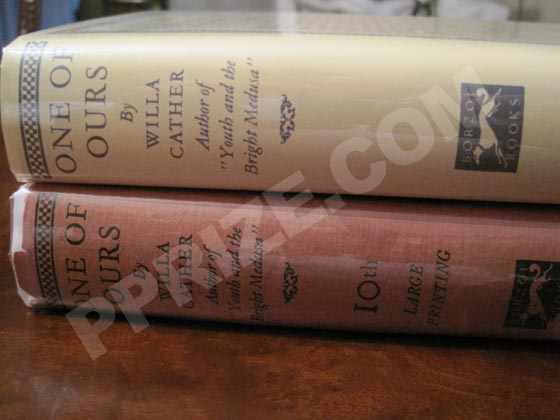 Later printings are indicated on the spine of the dust jacket. Notice how this shifts the