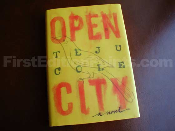Picture of the 2011 first edition dust jacket for Open City.