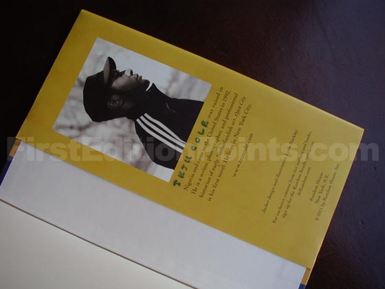 Picture of the back dust jacket flap for the first edition of Open City.