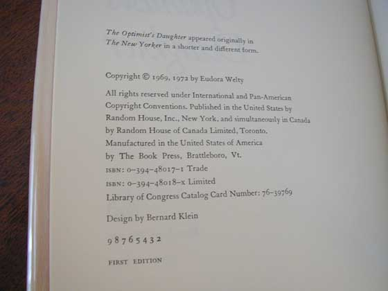 The copyright pages in the first trade and the first limited editions are identical.